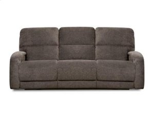 Double Reclining Sofa with Console and Power Headrest