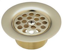 Tub Strainer Drain with Centerset Screw - English Brass
