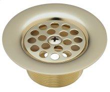 Tub Strainer Drain with Centerset Screw - English Brass