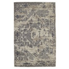 Grey & Blue Antique Wash 5' x 8' Jacquard Rug