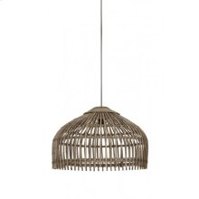 Hanging lamp 50x38 cm ASCELLI rattan grey