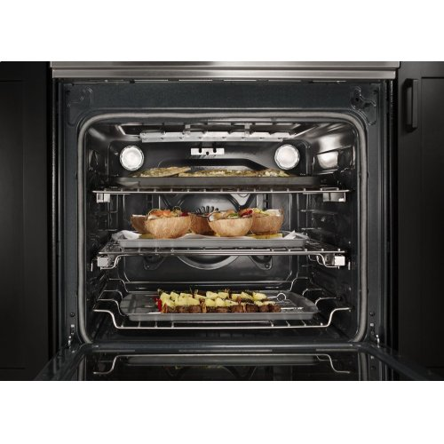 30 Inch 4 Element Induction Slide In Convection Range With Baking Drawer Stainless Steel