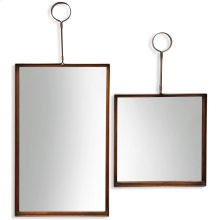Bronze Mirror Set  Large 17in X 39in Small 17in X 28in  Metal Wall Mirror Set Of 2