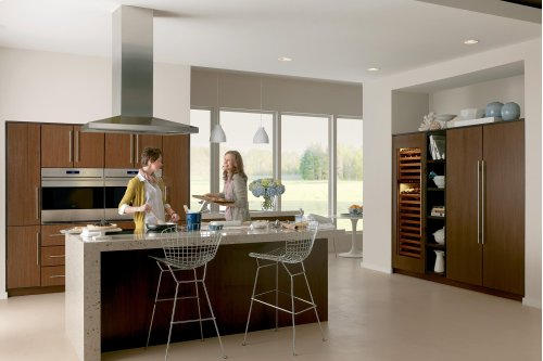 """Clearance Model - One of a Kind - 30"""" Integrated Over-and-Under Freezer with Ice Maker - Panel Ready"""