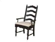 Ladderback Arm Chair Black