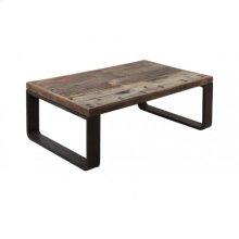 Coffee table 120x80x45 cm CUENCA railway wood