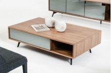 Modrest Kennedy Modern Walnut Coffee Table