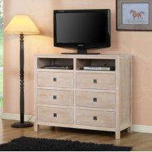 """Cassidy """"Washed Teak"""" 6-Drawer TV Stand/Dresser"""