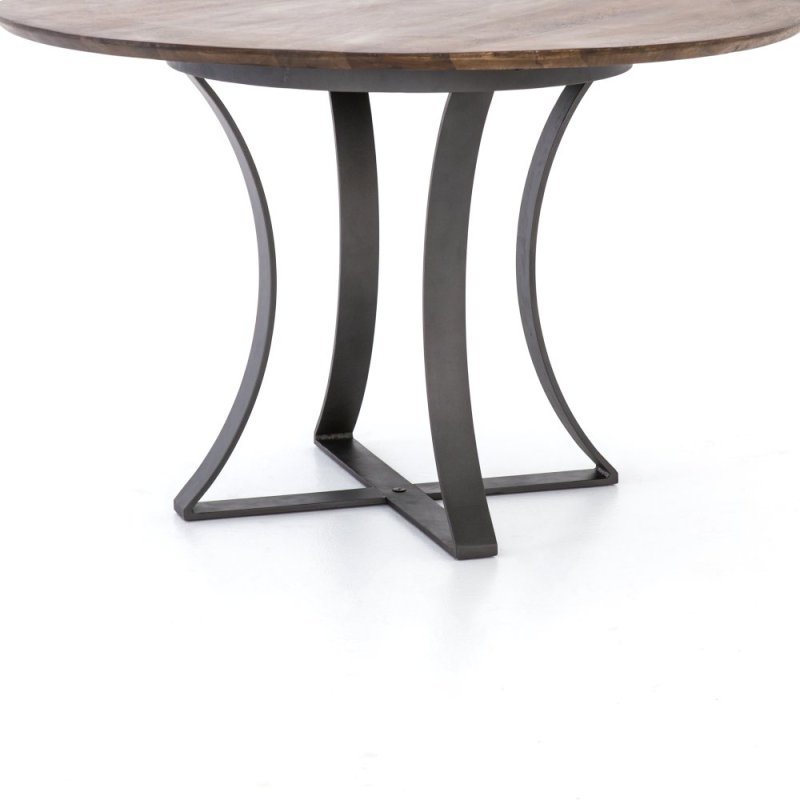 Hidden Additional Tanner Brown Finish 48 Size Gage Dining Table