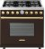 Additional Range DECO 36'' Classic Brown matte, Gold 6 gas, gas oven