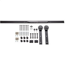 Barn Door Hardware Kit Traditional Strap with Soft-close Matte Black 8 Foot Length