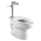 Madera Toilet with Exposed Manual Flush Valve System - White