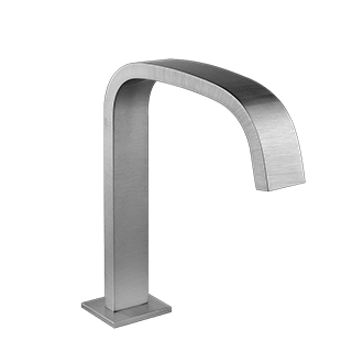 "Deck-mounted washbasin spout only with pop-up assembly Spout projection 6-1/2"" Height 8-15/16"" 1/2"" connections Includes drain Requires mixer control 27115, 27117, or 27119 Max flow rate 1"