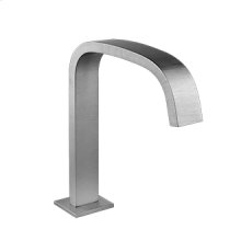 """Deck-mounted washbasin spout only with pop-up assembly Spout projection 6-1/2"""" Height 8-15/16"""" 1/2"""" connections Includes drain Requires mixer control 27115, 27117, or 27119 Max flow rate 1"""