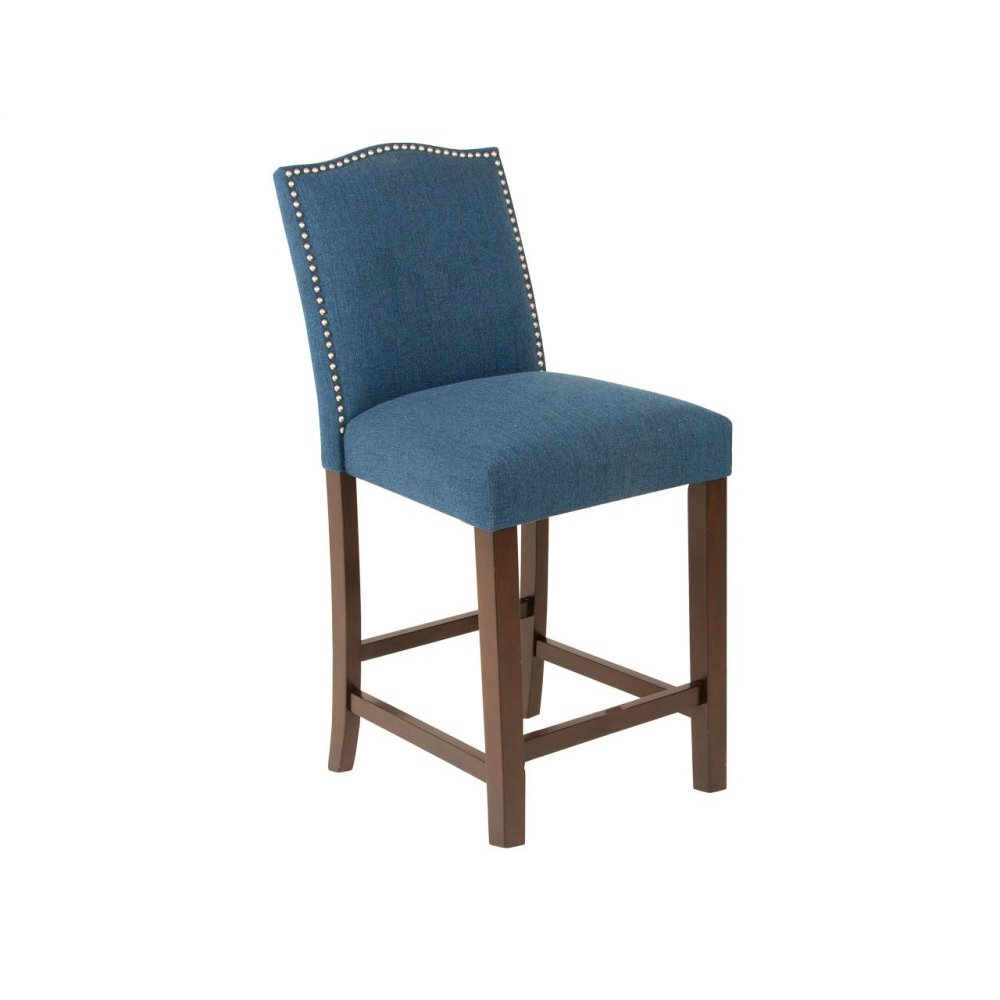 "Elden Upholstered Counter Chair 19""x23""x39"" [1/2"" Memory foam]"