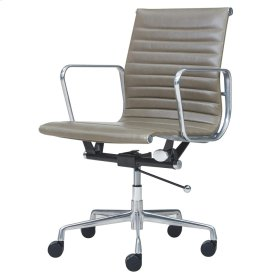 Langley PU Low Back Office Chair, Vintage Smoke