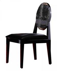 Joss - Modern Black Crocodile Dining Chair (Set of 2)