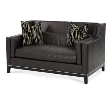 Group 1 Opt 1 Leather Loveseat Blk/Blk