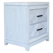 2 Drawer Night Stand, Available in Rustic Grey or Rustic White Finish.