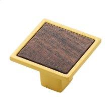 1-7/16 Fuse Knob - Brushed Golden Brass with Walnut / sample