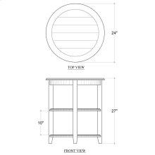 Luna Round 3 Tier Side Table