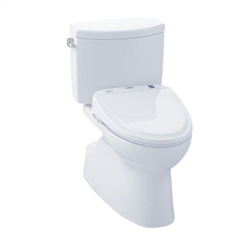 Vespin® II WASHLET®+ S300e Two-Piece Toilet - 1.28 GPF - Cotton