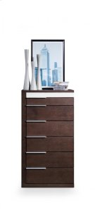 Modrest Torino Modern Brown Oak & Grey Chest Product Image