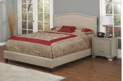 Light Brown Fabric Upholstered 3pc. Full Bed Product Image