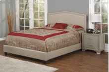 Light Brown Fabric Upholstered 3pc. Full Bed