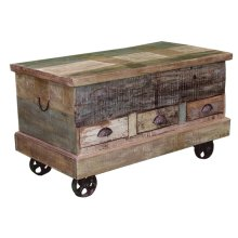 Trunk Painted with Wheels