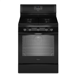 5.8 Cu. Ft. Freestanding Gas Range with Center Burner - BLACK