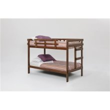Heartland 2 x 4 Bunk Bed with options: Chocolate, Twin over Twin, Twin Trundle