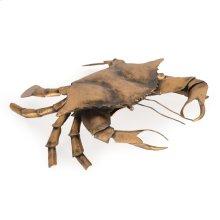 Metal Crab Large Goldtone Finish