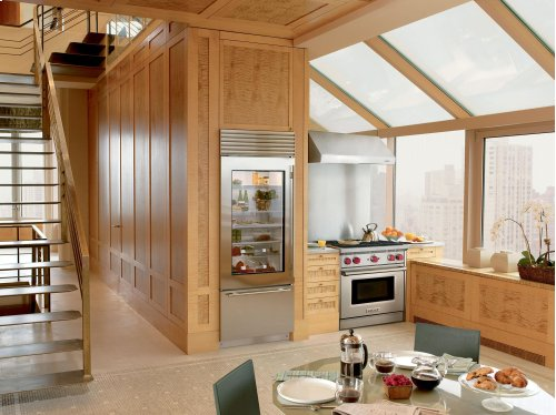 """30"""" Built-In Over-and-Under Glass Door Refrigerator/Freezer"""