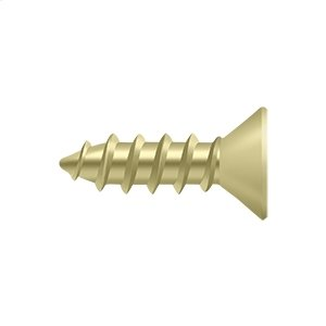 """Wood Screw, Steel, #12 x 3/4"""" - Polished Brass"""