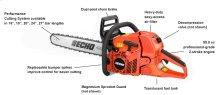 CS-620P 59.8cc Professional-Grade 2-Stroke Engine Chain Saw