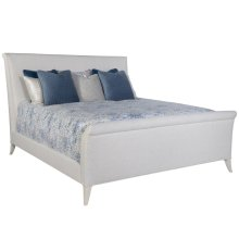 Volutes King Upholstered Bed