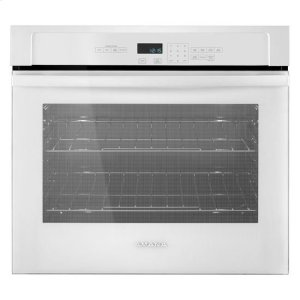 27-inch Wall Oven with 4.3 Cu. Ft. Capacity - white - WHITE