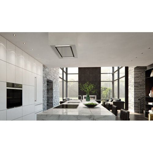 """36"""" Ceiling-Mounted Hood - White Glass"""