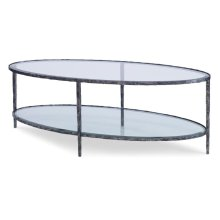 OVAL BROCK COCKTAIL TABLE