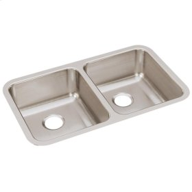 "Elkay Lustertone Classic Stainless Steel 30-3/4"" x 18-1/2"" x 7-7/8"", Equal Double Bowl Undermount Sink"