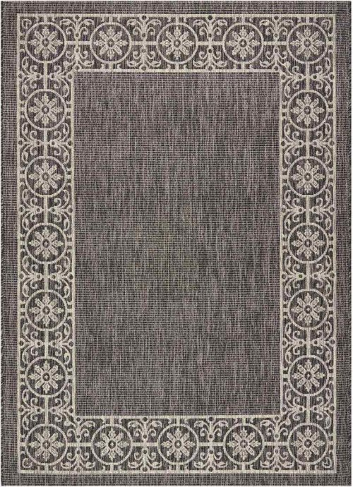 Country Side Ctr03 Charcoal Rectangle Rug 5'3'' X 7'3''