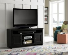 "58"" Black Entertainment Console - Pine, Dark Pine and Black Finish"