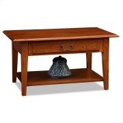 Shaker Solid Oak Drawer Coffee Table #10029-MED Product Image