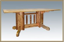 Homestead Double Pedestal Dining Table - Stained & Lacquered