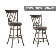 "Bali Backless Swivel Counter Chair, 18""x18""x24"""