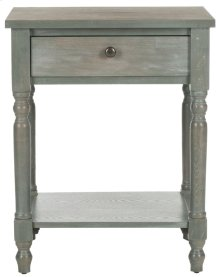 Tami Accent Table With Storage Drawer - French Grey