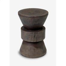 (LS) Rita Side Table In Grey Wash (12x12x18)