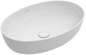 Surface-mounted Washbasin Oval - White Alpin CeramicPlus