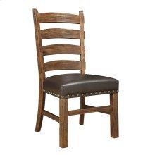 Emerald Home Chambers Creek Ladderback Side Chair-dark Brown Pu Upholstered Seat W/nailhead Trim D412-22